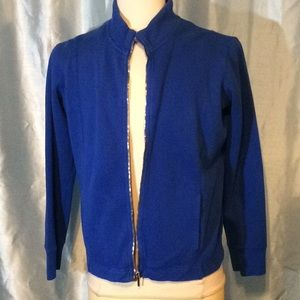 100% Cotton Royal blue zip up jacket, NWT